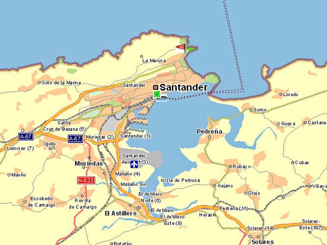 Karte Santander Goudenelftal